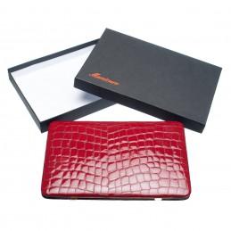 KROKO XL raudonas manikiūro rinkinys, natūralios odos dėklas Solingen - 2