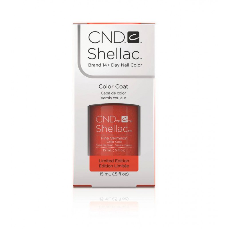 Shellac nail polish - FINE VERMILION CND - 1