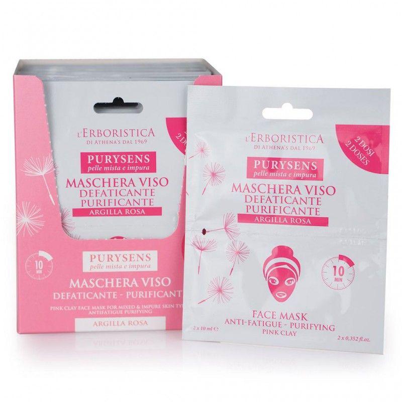 Purysens L'Erboristica Pink clay face mask 20 ml 2x10ml