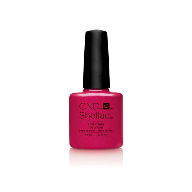 Shellac nail polish - HOT CHILIS CND - 1